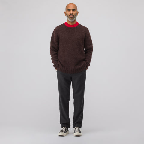 Marni Crewneck Sweater in Burgundy - Notre