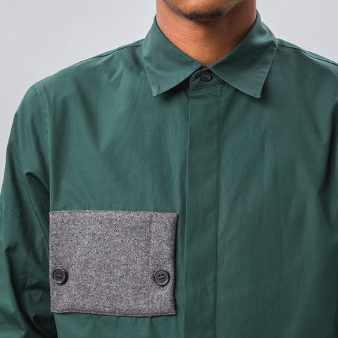 Marni Cotton L/S Shirt in Green - Notre