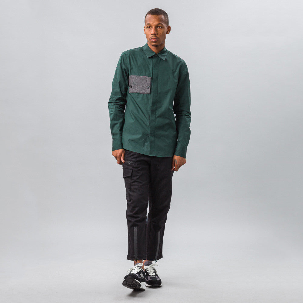 Marni - Cotton L/S Shirt in Green - Notre - 1