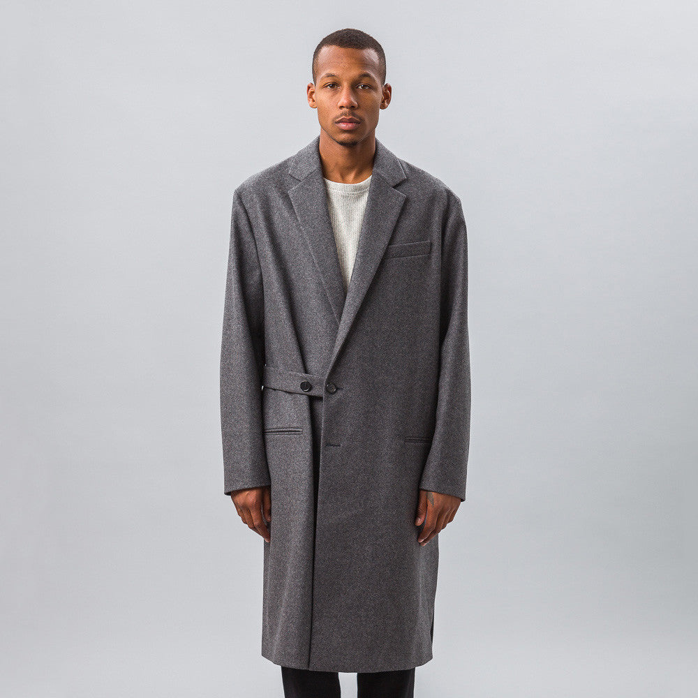 Marni - Wool Coat with Half Belt Closure in Grey - Notre - 1