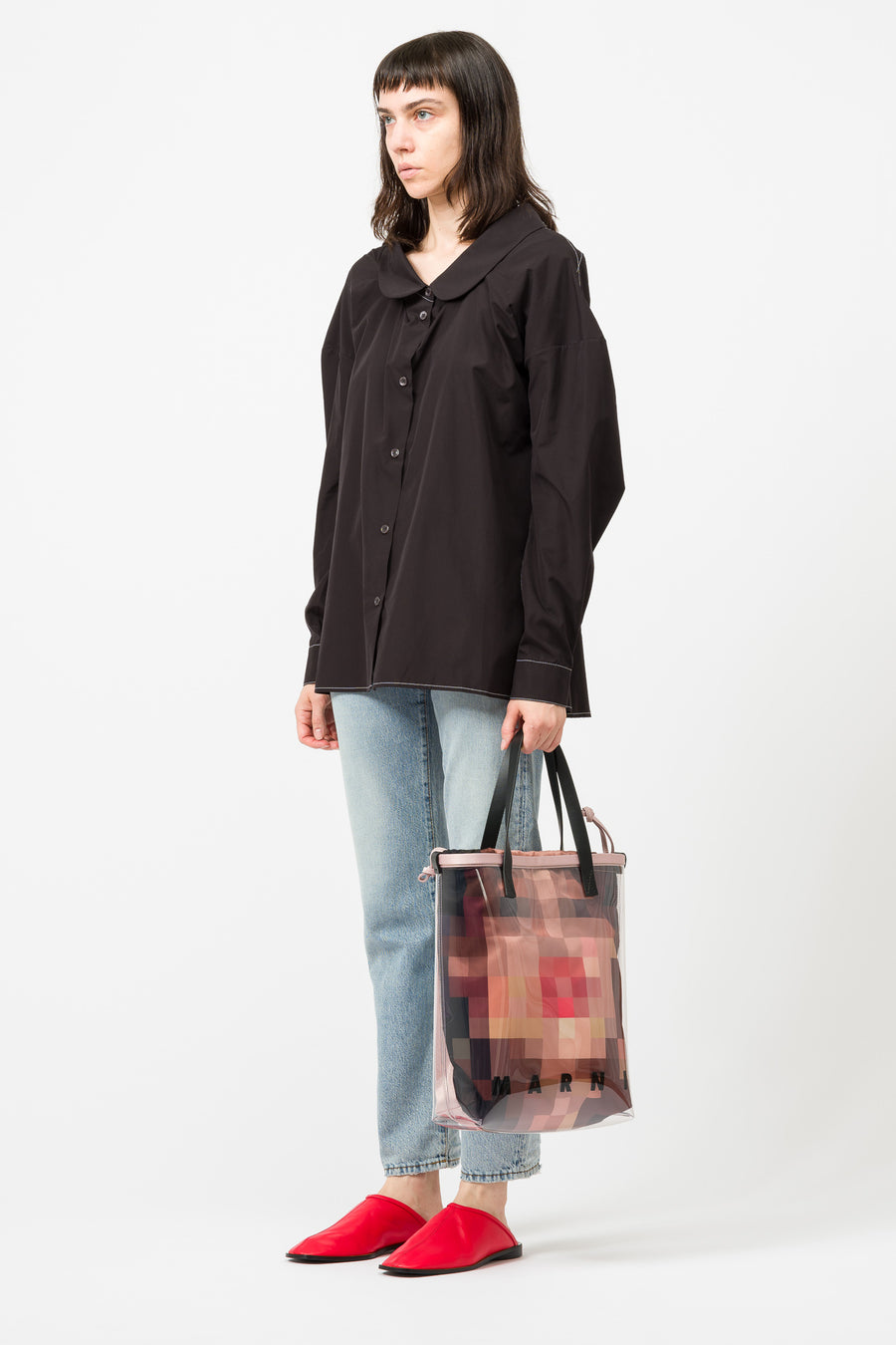Marni Shopping Bag in Clear/Multi - Notre