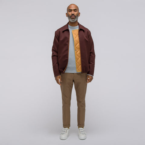 Marni Technical Gabardine Jacket in Bordeaux - Notre