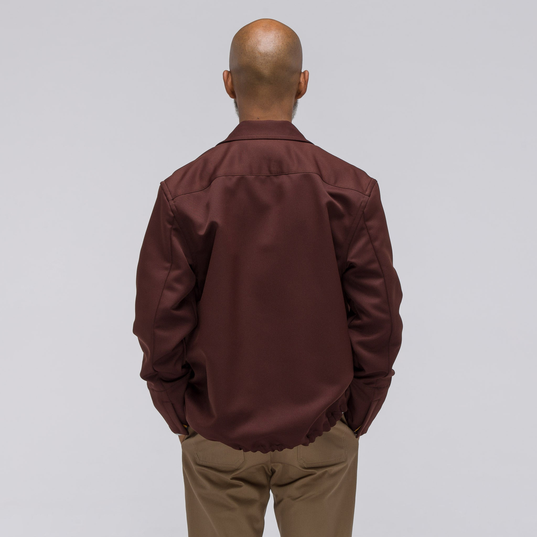 Technical Gabardine Jacket in Bordeaux