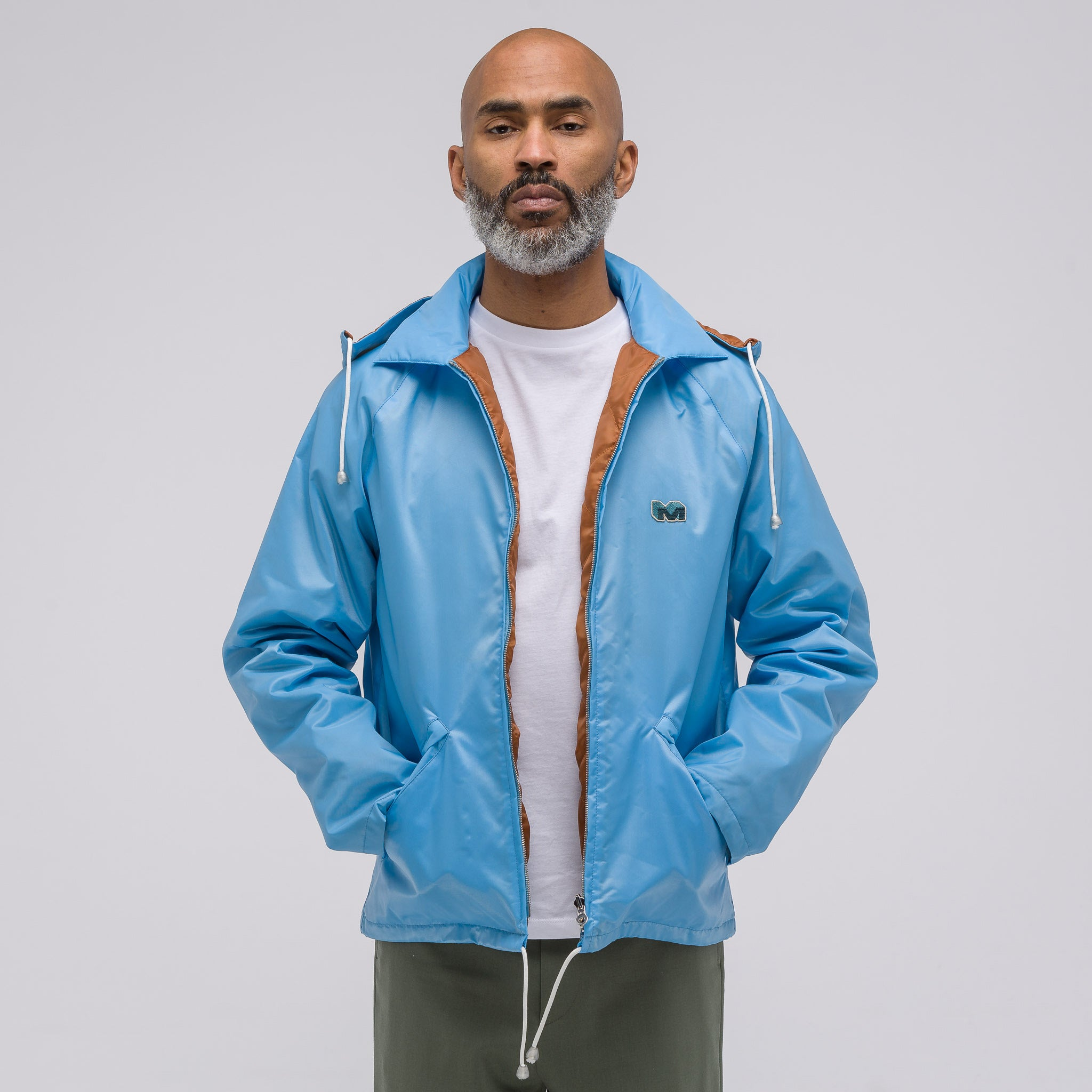 Nylon Jacket in Light Blue