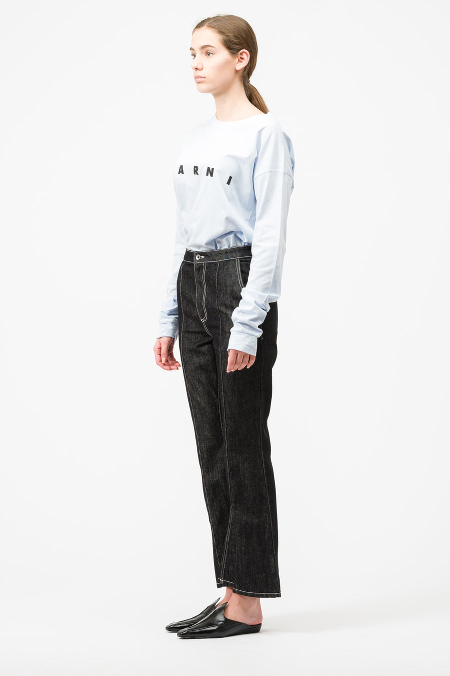 Marni Jeans Trouser in Black - Notre