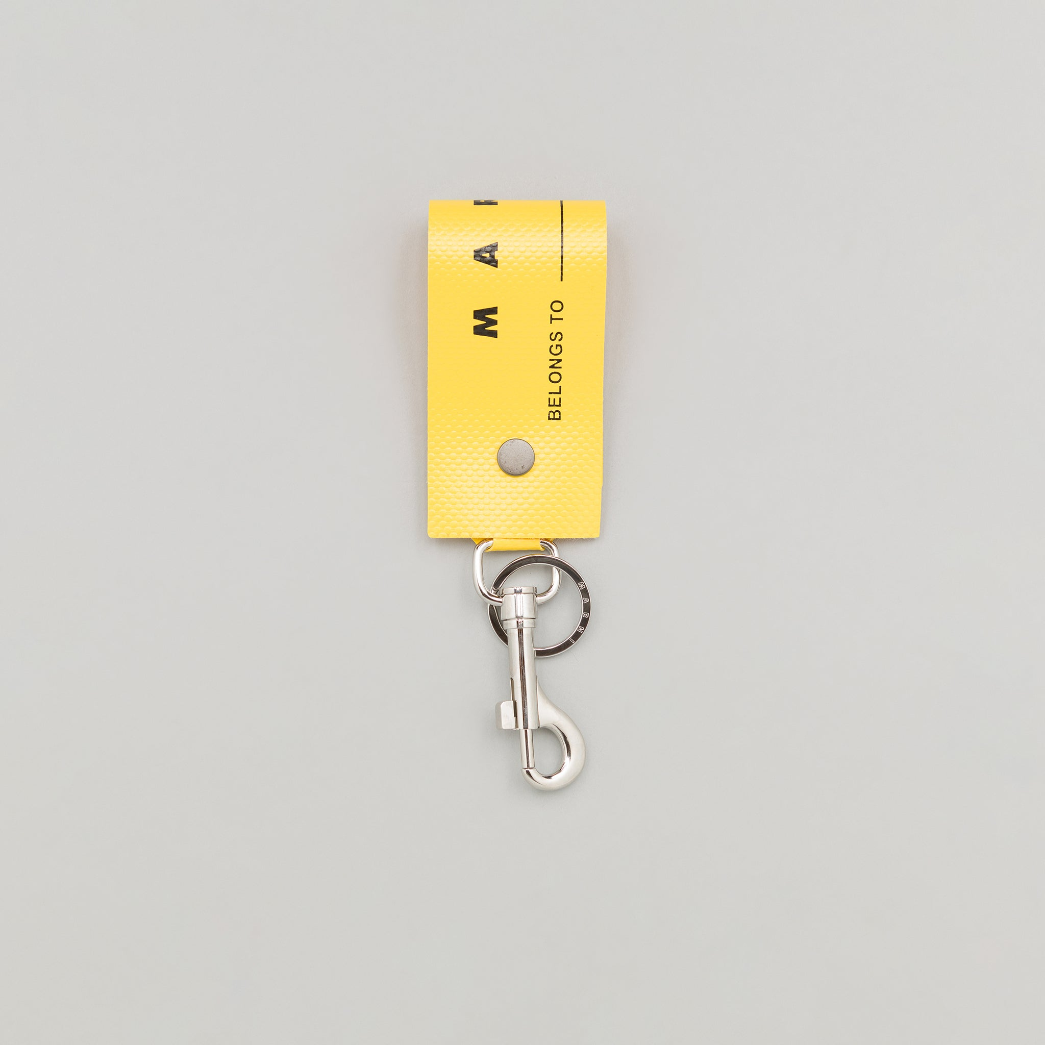 PVC Luggage Label Tag in Sun Yellow