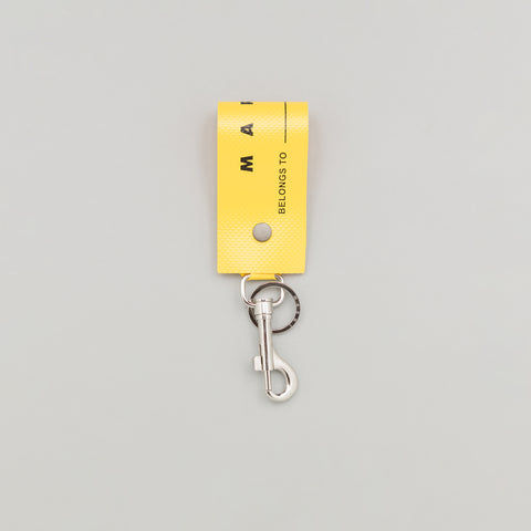 Marni PVC Luggage Label Tag in Sun Yellow - Notre