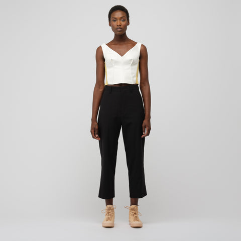 Marni Leather Tank Top in Lily White - Notre