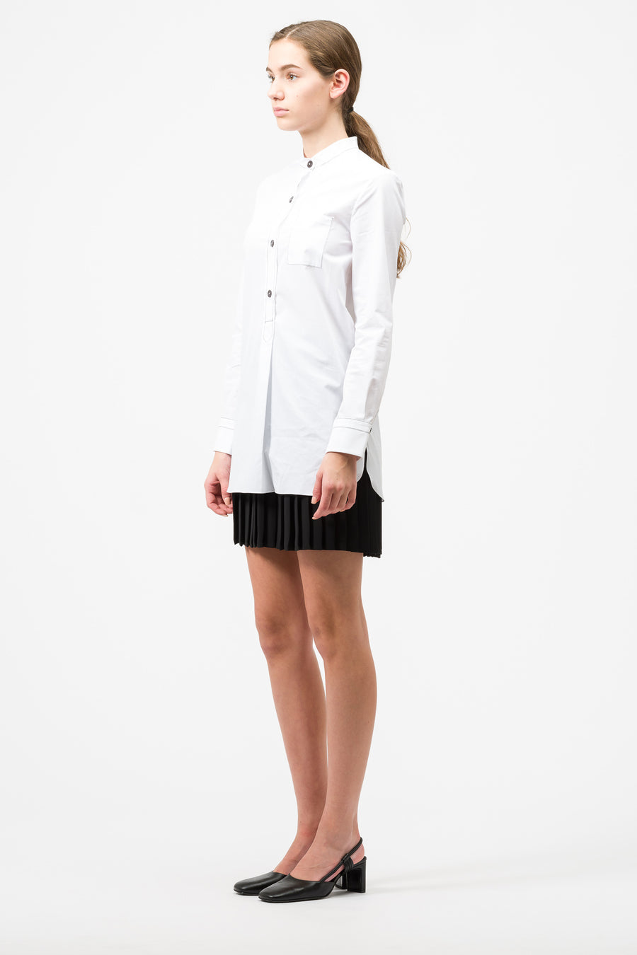 Marni Long Sleeve Blouse in Lily White - Notre
