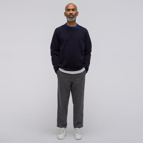 Marni Long Sleeve Crew Neck Sweater in Navy - Notre