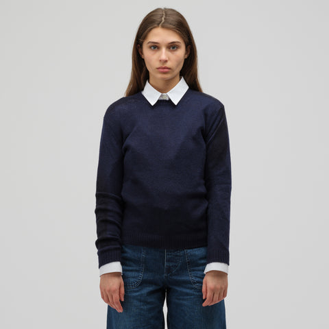 Marni Long Sleeve Crew Neck Sweater in Night Blue - Notre