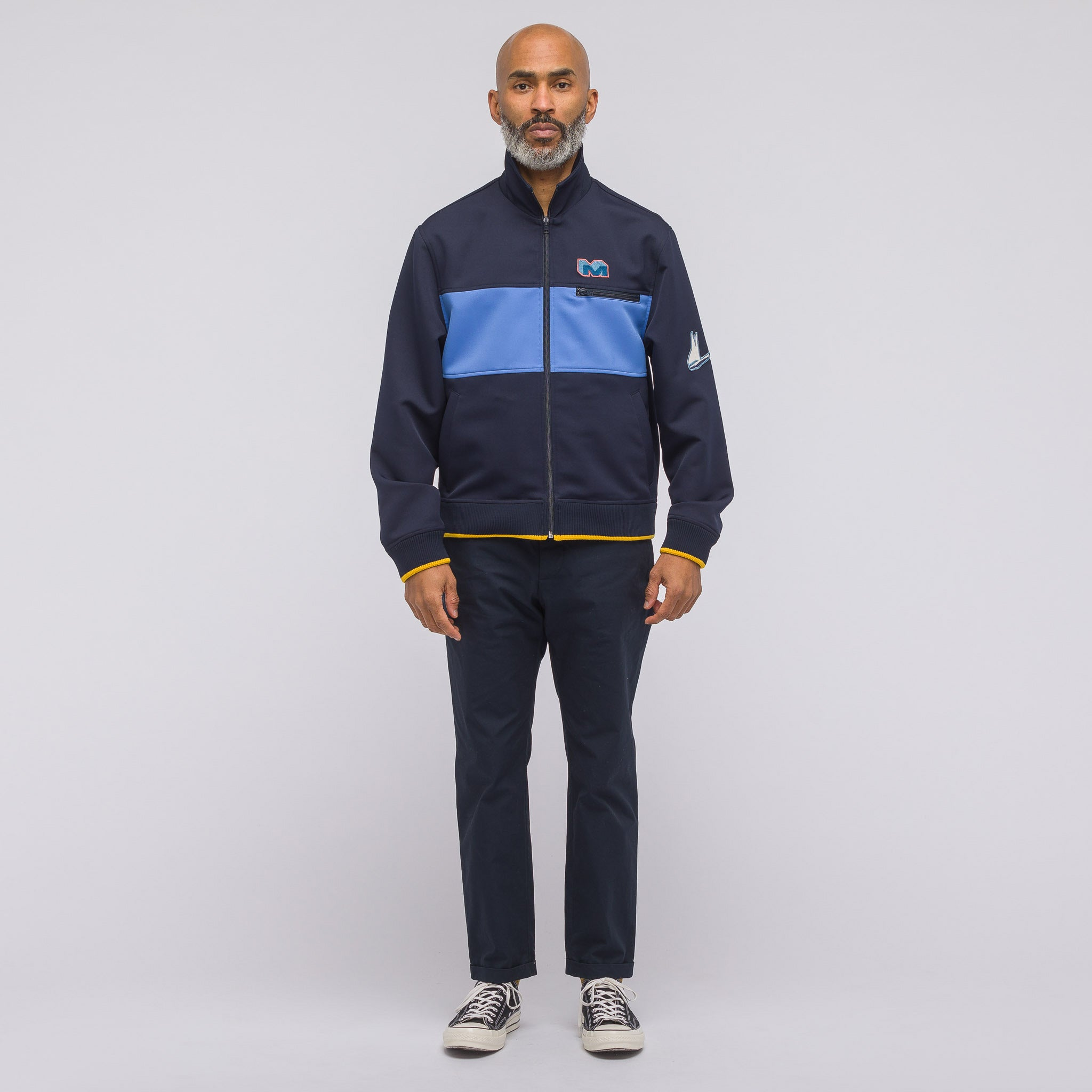 Track Jacket in Blue Navy