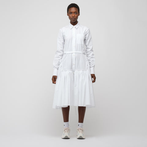 Marni L/S Button-Up Dress in Lily White - Notre