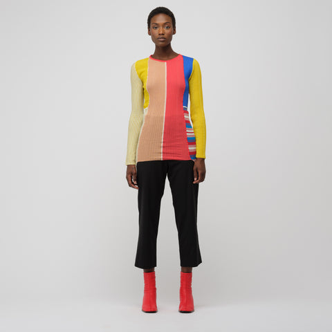 Marni L/S Crew Neck Sweater in Raspberry - Notre