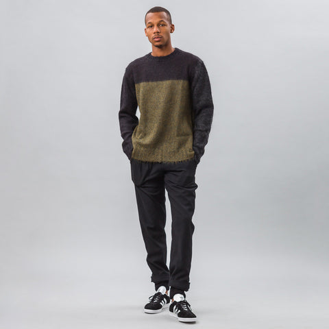 Marni Mohair Knit Sweater in Navy/Green - Notre