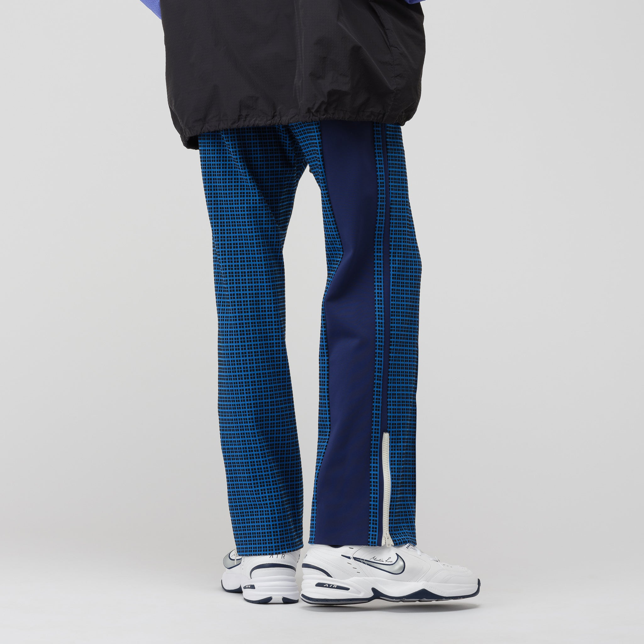 Pattern Trousers in Blue/Black