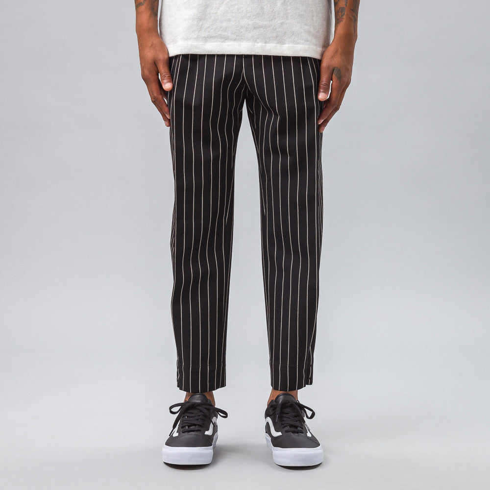 Marni - Pleated Pinstripe Trouser in Black - Notre - 1