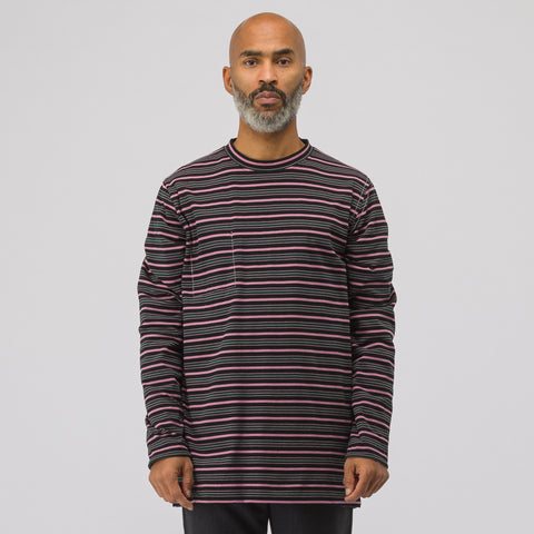 Marni Reversible Long Sleeve T-Shirt in Black/Green Multi - Notre