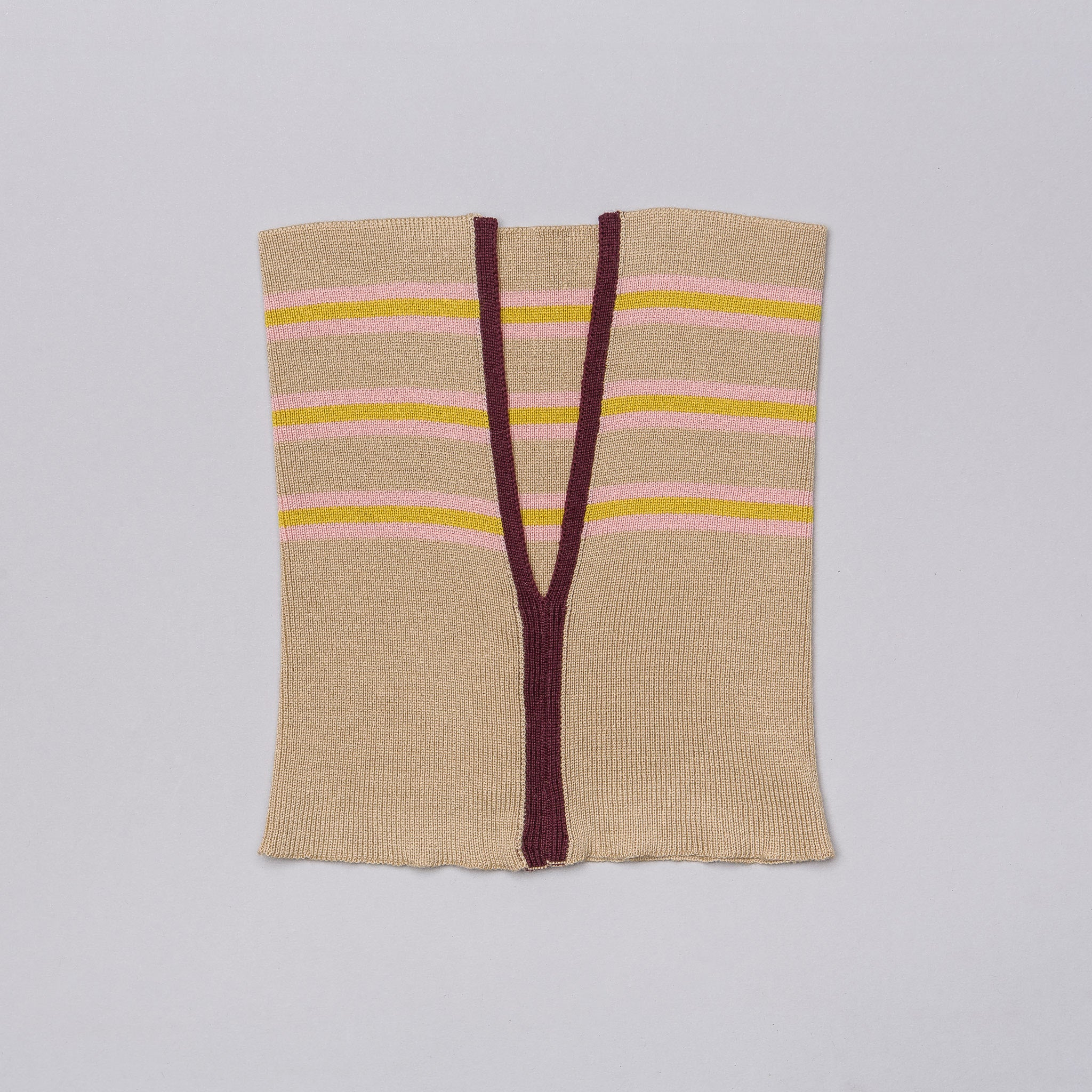 Scarf in Light Beige Multistripe