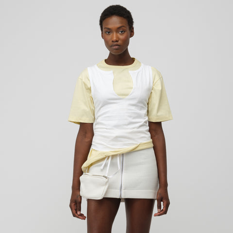 Marni S/S Crew Neck T-Shirt in Lily White/Citrine - Notre