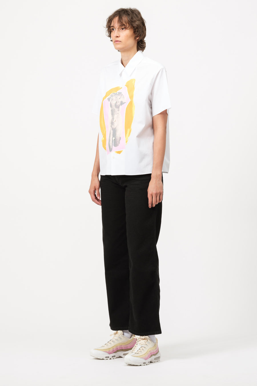 Marni S/S Polo Neck Shirt in Lily White - Notre