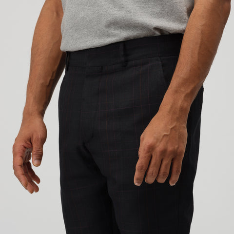 Marni Trousers in Black Plaid - Notre
