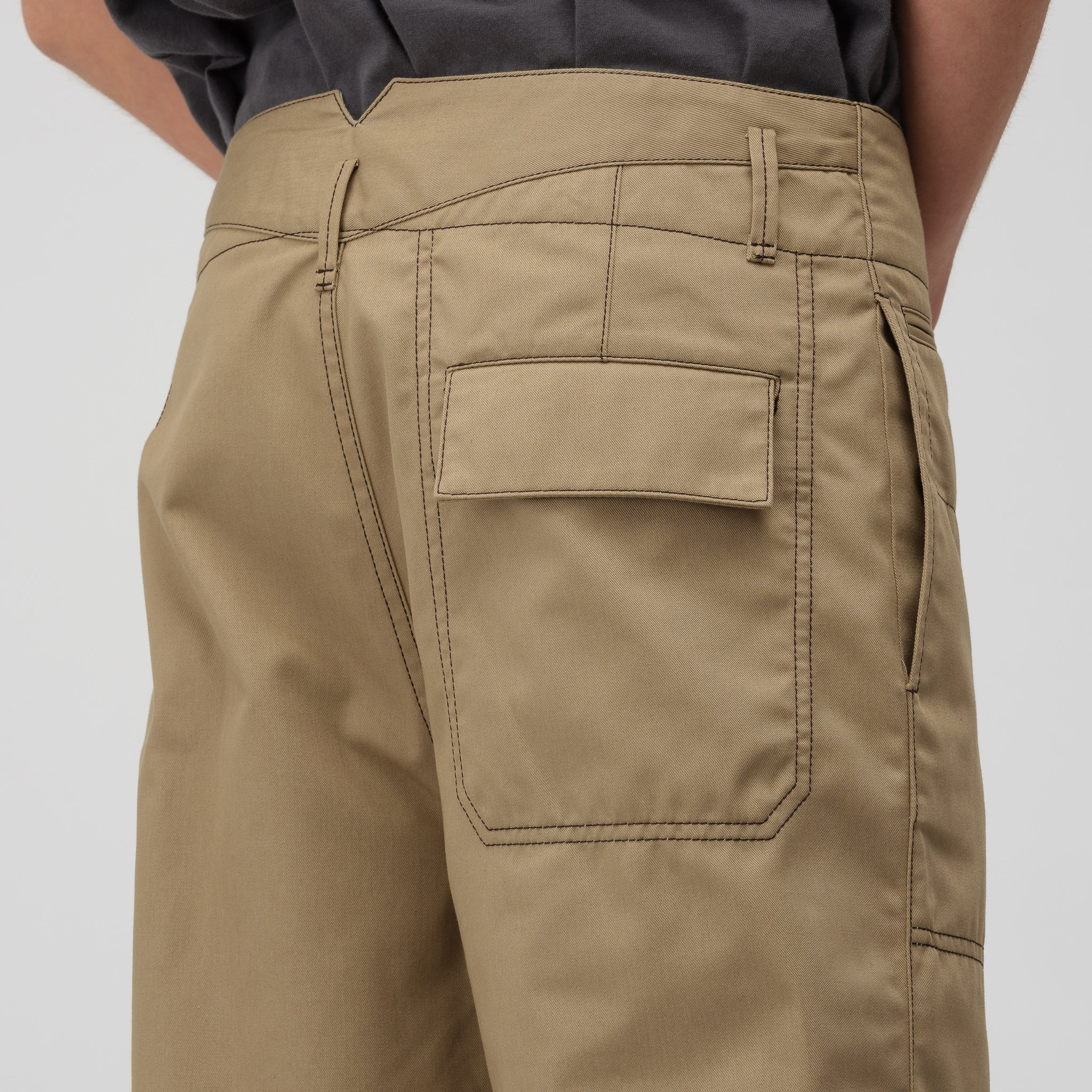 Trousers in Khaki