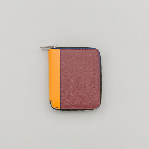 Marni Zip Wallet in Mustard Yellow - Notre