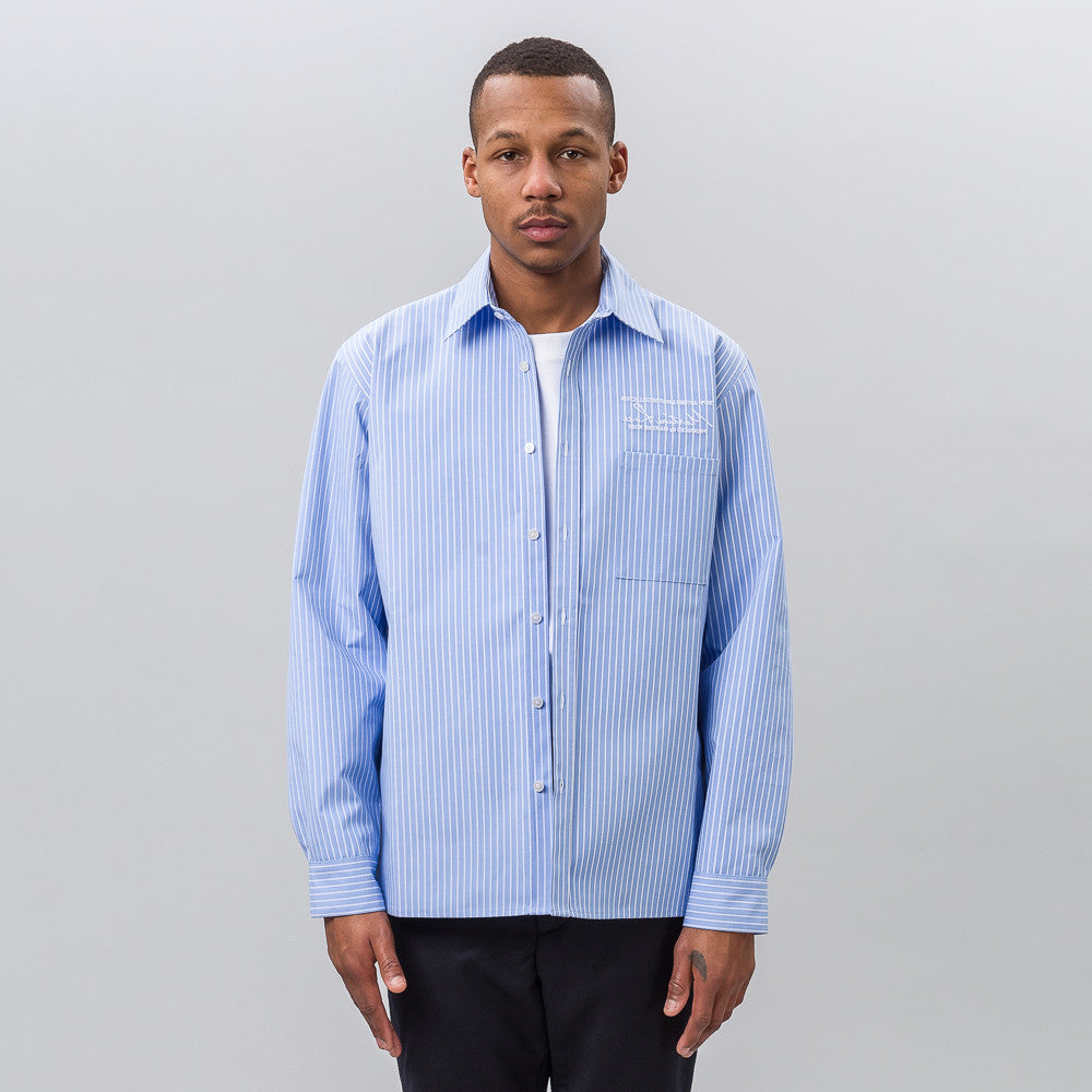 Martine Rose Bonded Long Sleeve Shirt in Blue - Notre
