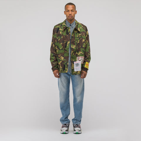 Martine Rose Camo Coat in Green - Notre
