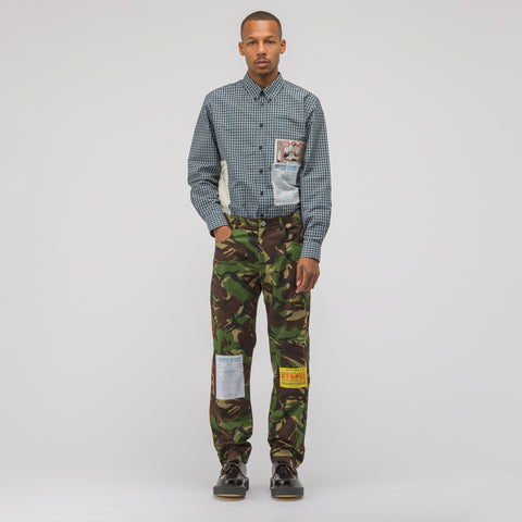 Martine Rose Camo Trouser in Green - Notre