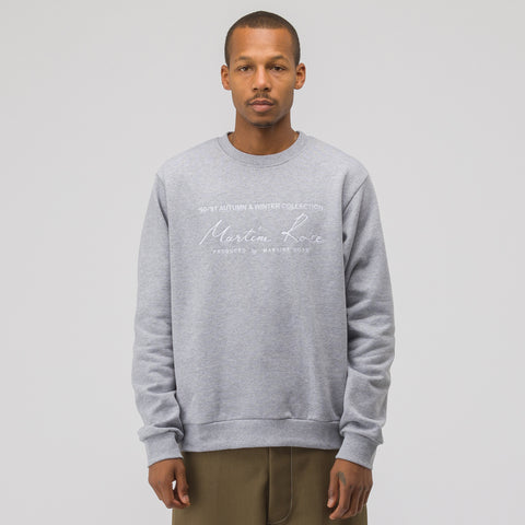 Martine Rose Classic Crewneck Sweatshirt in Grey - Notre