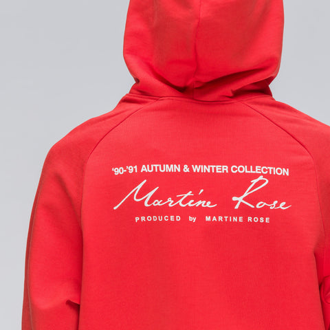 Martine Rose Classic Logo Hoodie in Red - Notre