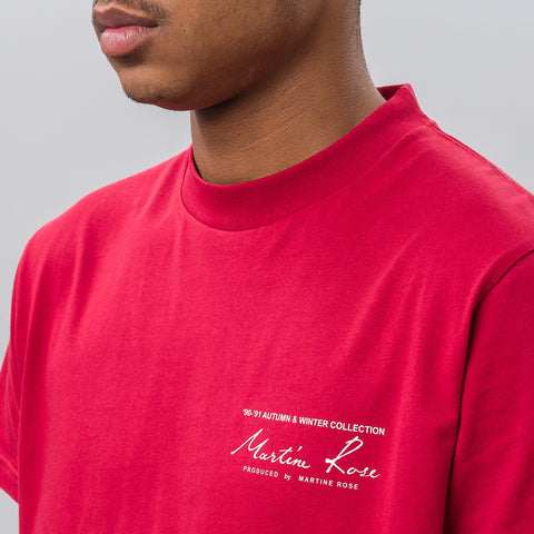 Martine Rose Classic Tee in Red - Notre