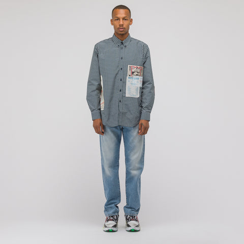 Martine Rose Flyer Shirt in Green Check - Notre