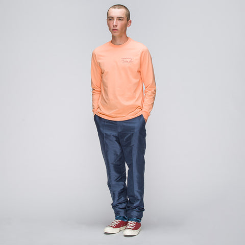 Martine Rose Long Sleeve Classic Logo T-Shirt in Peach - Notre
