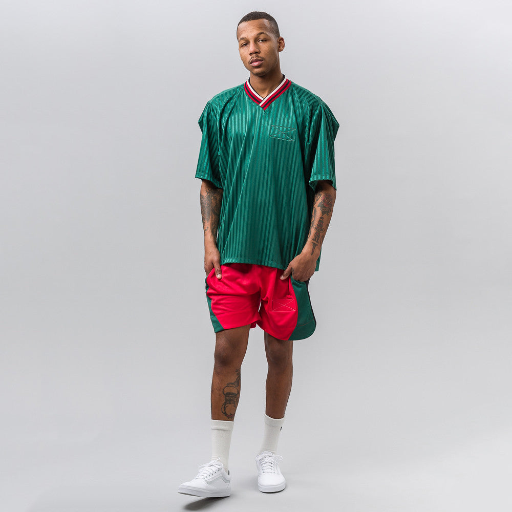 Martine Rose Sports Top in Green Stripe - Notre