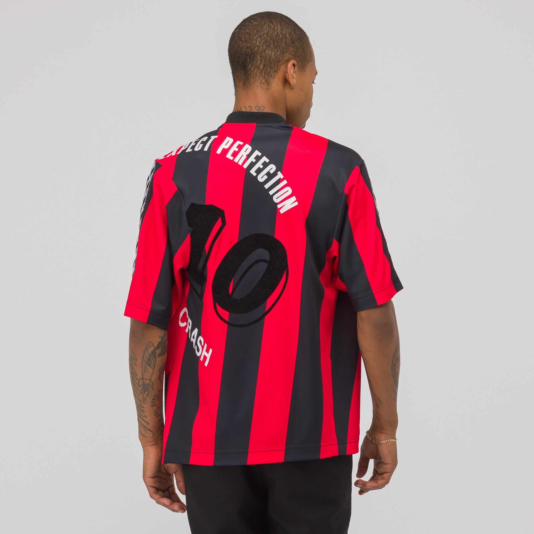 Twist Football Jersey in Red/Black