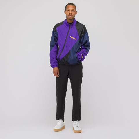 Martine Rose Twisted Track Jacket in Purple - Notre