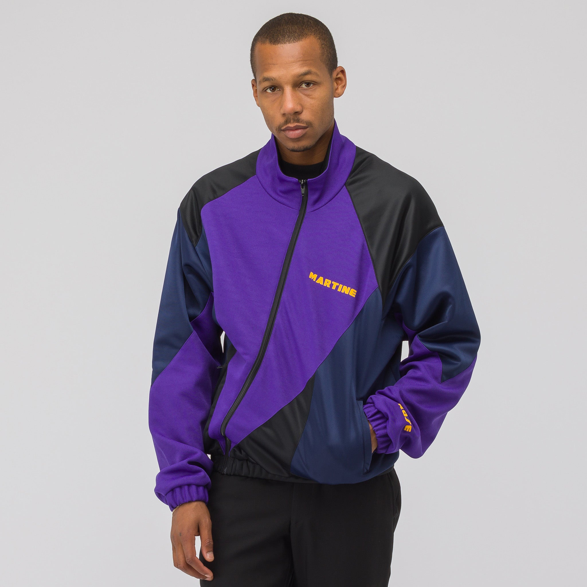 Twisted Track Jacket in Purple