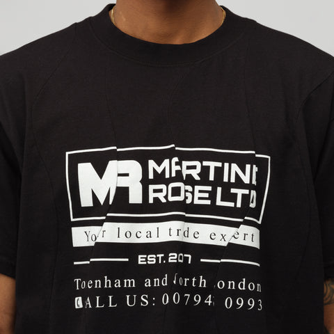 Martine Rose Wobbly T-Shirt in Black - Notre