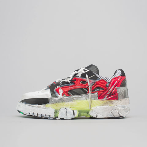 Maison Margiela Fusion Low Sneaker in Red/Black/Green - Notre