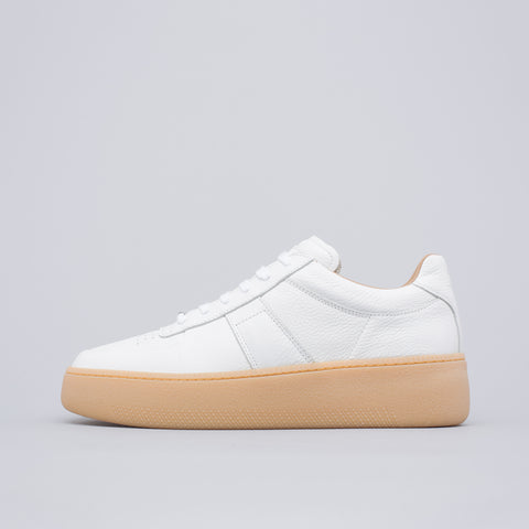 Maison Margiela Patchwork Sneaker in White Leather - Notre