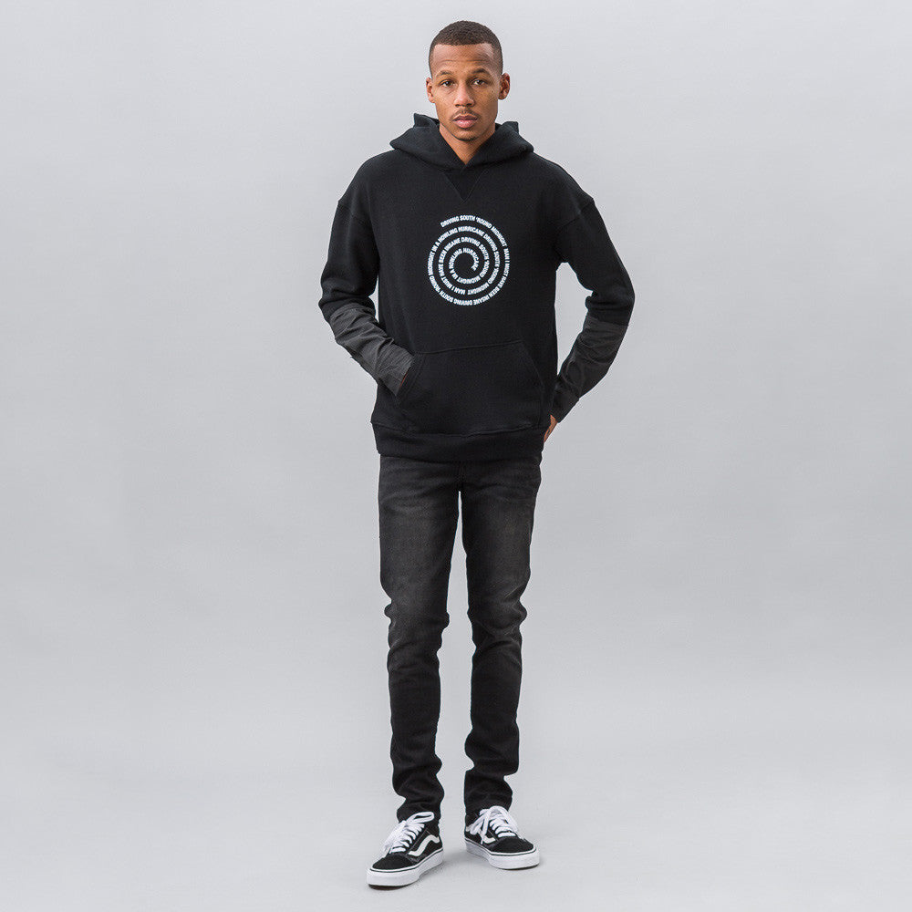 Midnight Studios Hurricane Hybrid Hooded Sweatshirt in Black - Notre