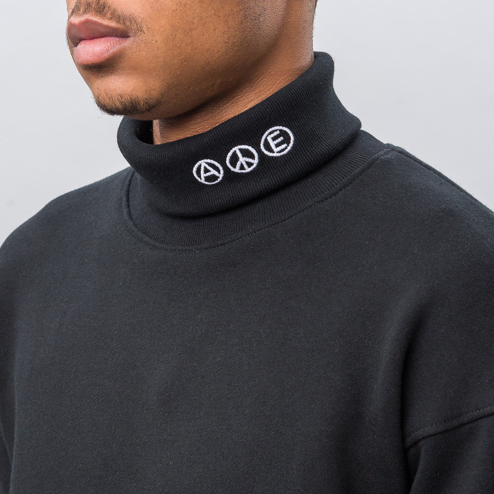 Midnight Studios Hybrid Embroidered Turtleneck in Black - Notre