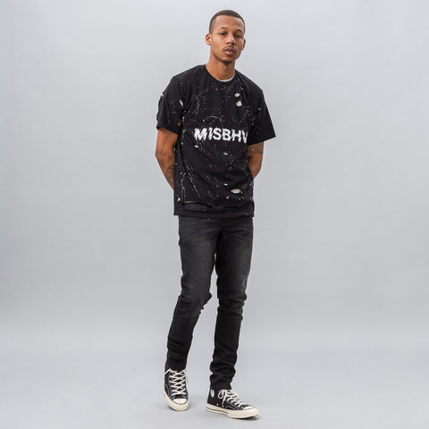 MISBHV Distressed Logo T-Shirt in Black - Notre