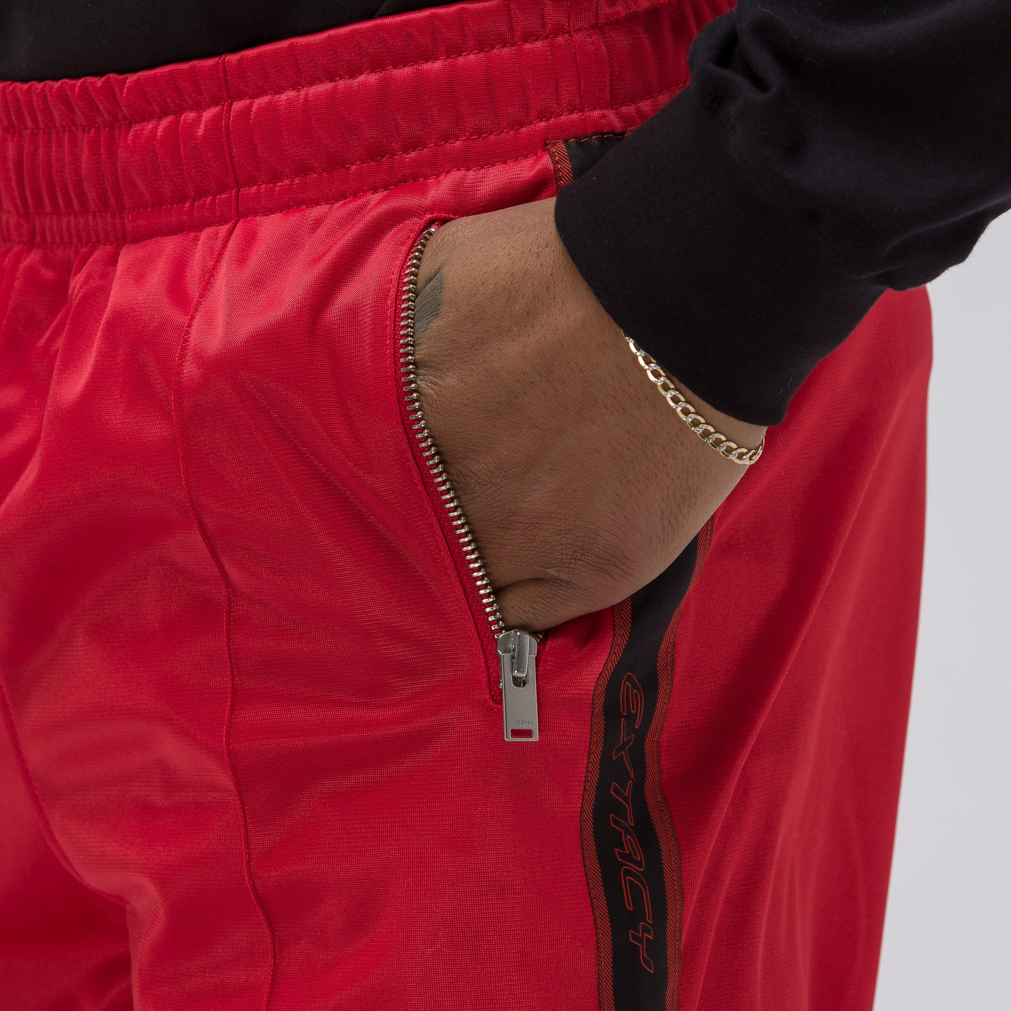 Extacy Tracksuit Pants in Red