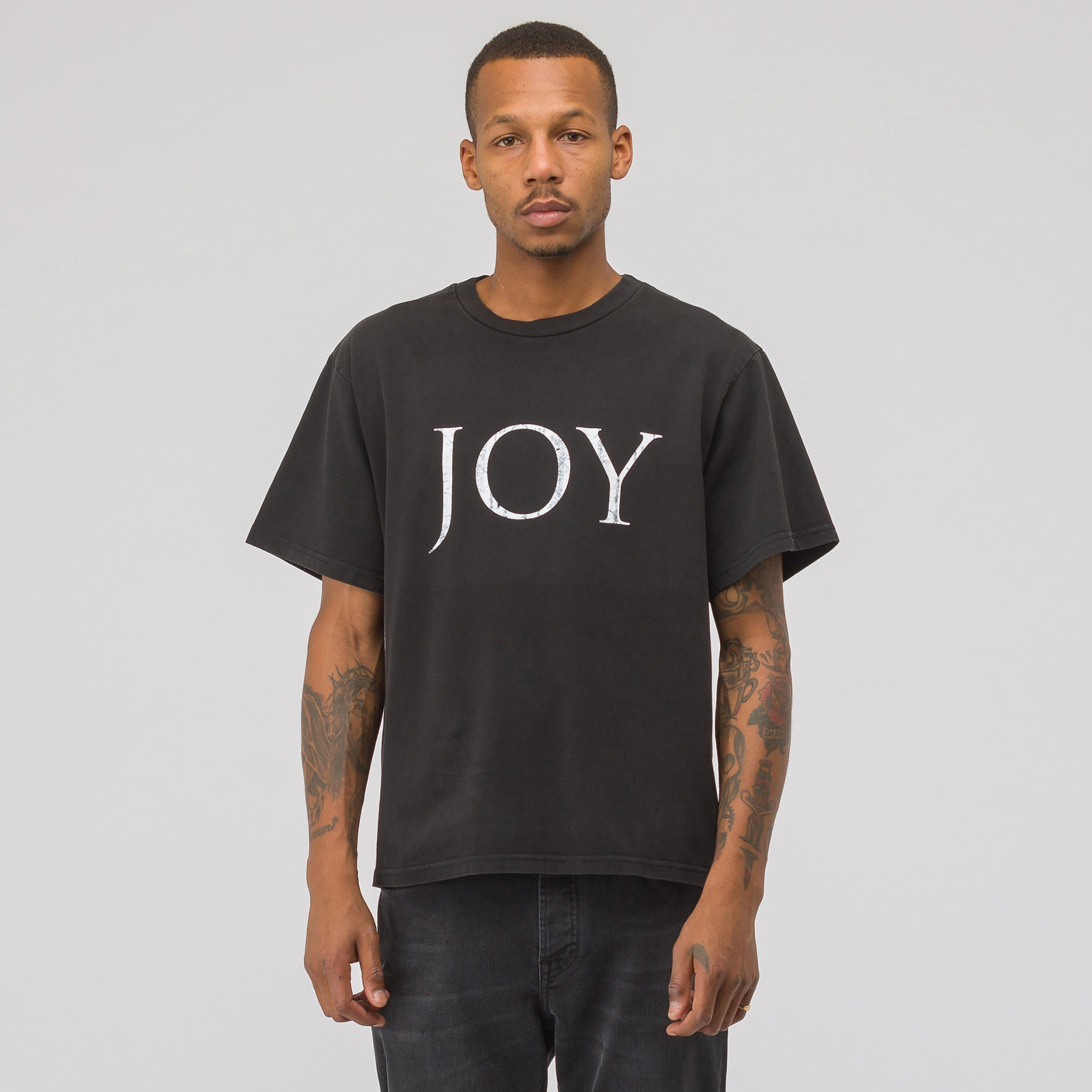 JOY T-Shirt in Washed Black