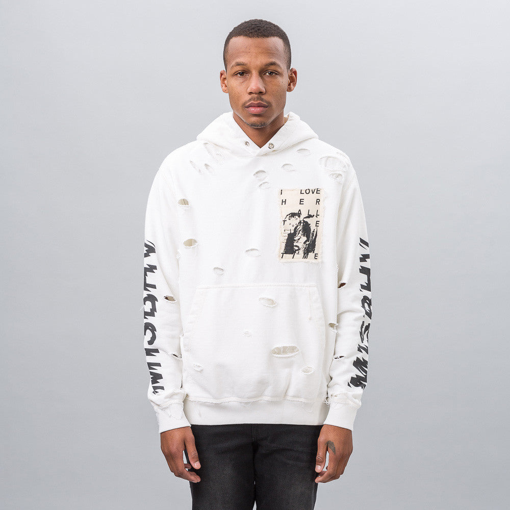 Love Hoodie in Off White