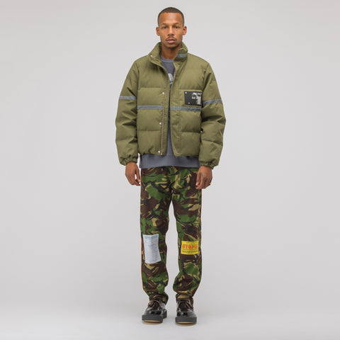 MISBHV Reflective Down Jacket in Military Green - Notre